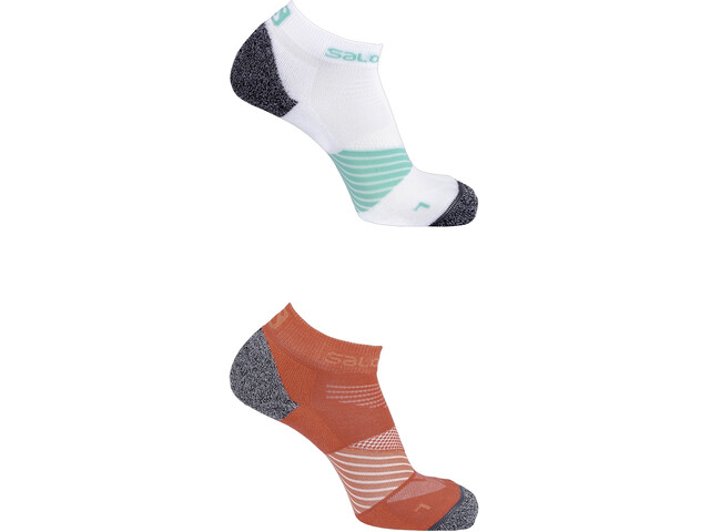 Salomon Speed Socks 2 Pack hibiscus/white